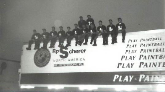 Team Image on the RPS Trailer after their 1995 World Cup Amateur win. Photo courtesy Mark Gong.