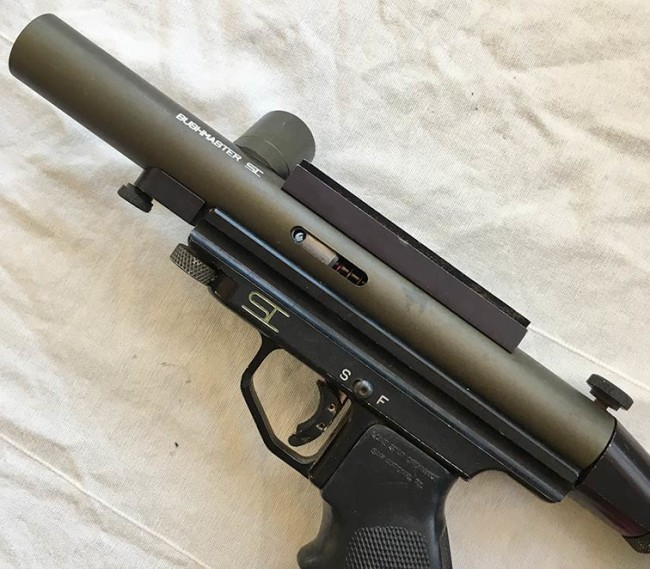 Body of Diamond Dust finish post 1990 Line Si Bushmaster without pump arm.