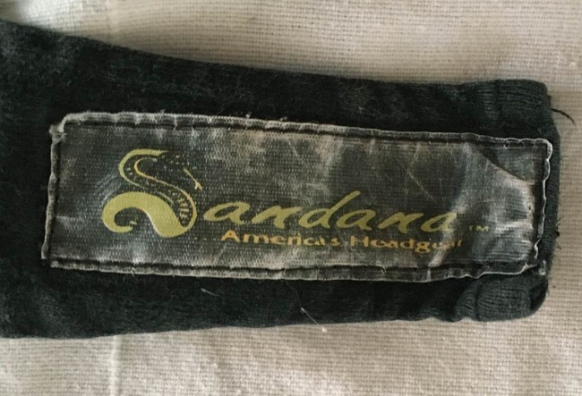 Early 1990s Sandana printed tag.