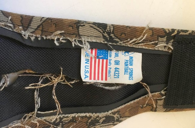 Indian Springs tag on vertical pouch on Sandana pack.