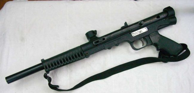 Tippmann's first direct feed semi auto, the Tippmann 68 Special premiered at the Bay City Open in July of 1990.
