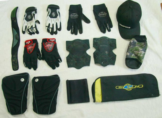 Pads, gloves and bags added in October 2016.