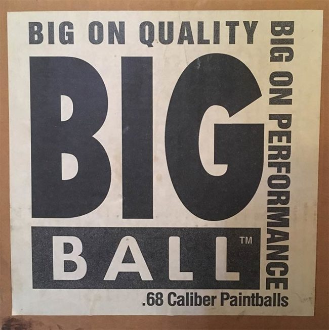 Big Ball Paintball Box. Purchased from Kapp in Northern California.