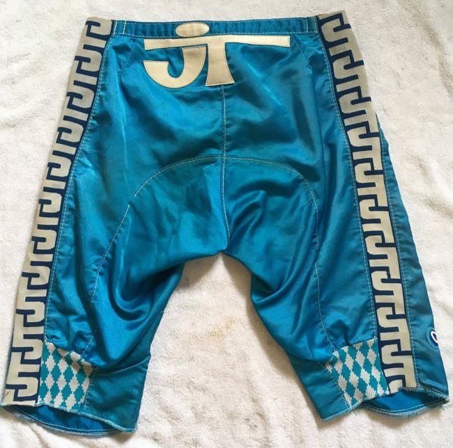 Backside view of these JT racing shorts.