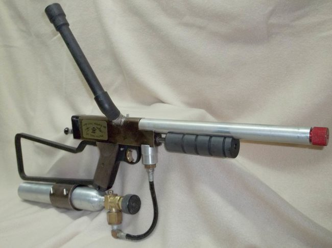 Chuck Link's Sniper 1 #21 with long barrel, stick feed and thermo tank.