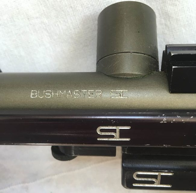 Bushmaster engraving on body of Line SI Bushmaster.