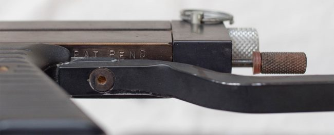 Pat Pending Stamp visible with wire stock attached.