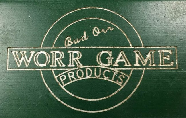 """Side engraving on this Autococker reads, """"Bud Orr Worr Game Products."""""""