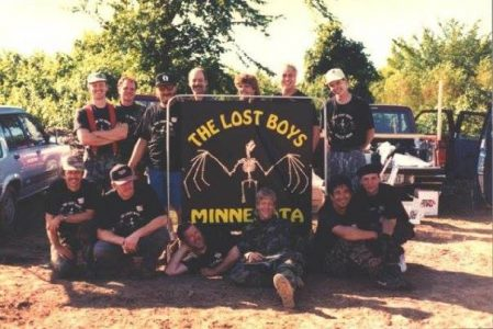"Lost Boys out of Minnesota. Photo courtesy Jim Campos, c. 1993. Campos writes, """"1993 Adventure Zone Tournament Minnesota Lost Boys."""